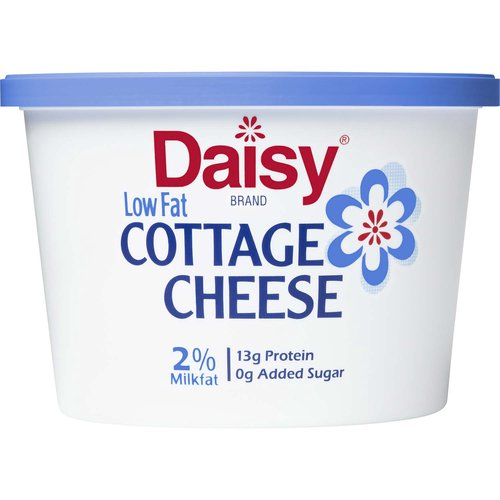 <ul> <li>Discover why Daisy is America's #1 Cottage Cheese (America's #1 claim based on IRI Volume 52 week ending August 9, 2020)</li> <li>Fresh & Creamy Taste – pairs perfectly with your favorite foods</li> <li>Only 4 Ingredients: Cultured Skim Milk, Cream, Salt, Vitamin A Palmitate</li> <li>13 g Protein.  Protein Packed to fuel you through the day</li> <li>Small specially made curds for a consistently better eating experience</li> <li>rBST Free (No significant difference has been shown between milk derived from rBST-treated cows and non-rBST-treated cows), Pasteurized, Grade A Milk – Live Cultures – Kosher – Gluten Free</li> <li>2% Milkfat</li> <li>0 g Added Sugar</li> </ul>