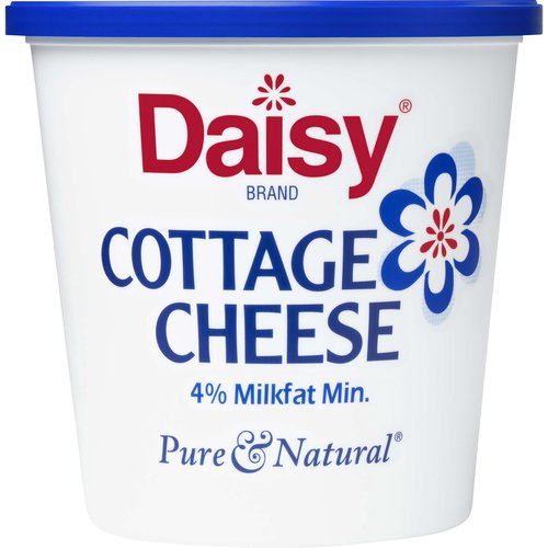 <ul> <li>Discover why Daisy is America's #1 Cottage Cheese (America's #1 claim based on IRI Volume 52 week ending August 9, 2020)</li> <li> Fresh, Rich & Creamy Taste – pairs perfectly with your favorite foods</li> <li> Cottage Cheese the way it should be, with only 3 Ingredients: Cultured Skim Milk, Cream, Salt <li> Protein Packed to fuel you through the day <li> Small specially made curds for a consistently better eating experience <li>  rBST Free (No significant difference has been shown between milk derived from rBST<li>treated cows and non<li>rBST<li>treated cows), Pasteurized, Grade A Milk – Live Cultures – Kosher – Gluten Free <li> Only Daisy Cottage Cheese Will Do!