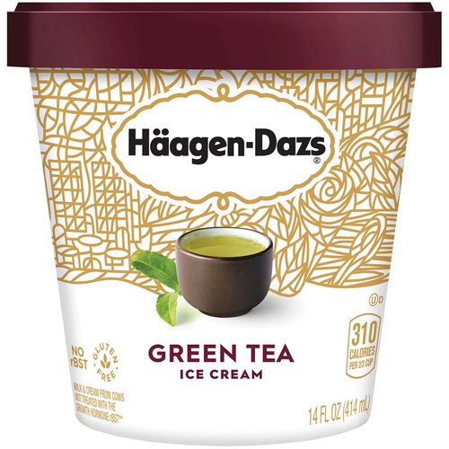 <ul> <li>HÄAGEN-DAZS Green Tea Ice Cream is made with matcha green tea and sweet cream to help craft a delicate taste, available in a 14-oz. container</li> <li>Made with 5 simple ingredients: cream, skim milk, cane sugar, egg yolks, green tea</li> <li>HÄAGEN-DAZS ice cream is gluten free and uses milk and cream from cows not treated with the growth hormone rBST* *No significant difference has been shown between milk from rBST treated and non-rBST treated cows</li> <li>Transported using a chilled shipping method to arrive frozen</li> <li>Take a moment to indulge your senses with a sweet reward that's under every lid</li> </ul>