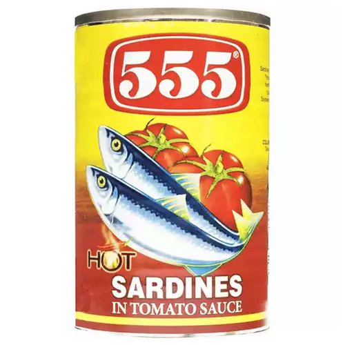 555 Sardines In Tomato with Chili, 5.5 Ounce