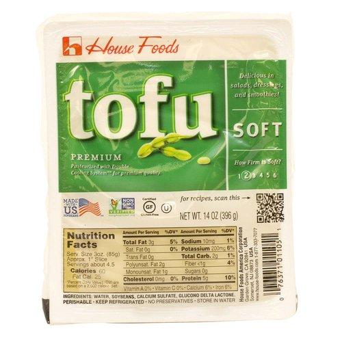 <ul> <li>Premium Soft Tofu.</li> <li>Pasteurized with Double Cooling System for Premium quality.</li> <li>Made with US Soybean.</li> <li>Non GMO verified. Certified gluten-free. Non GMO Project verified. </li> <li>Certified Gluten Free.</li> <li>How firm is Soft? 2.</li> <li>Delicious in Salads, dressings, and smoothies.</li> <li>Perishable, Keep Refrigerated.</li> <li>No Preservatives.</li> <li>Store in Water.</li> <li>Serving size 3 oz.</li> <li>60 Calories per Serving.</li> </ul>