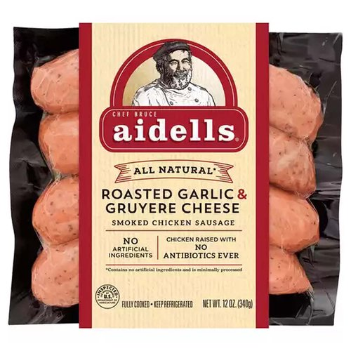 <ul> <li>One 12 oz. package of 4 fully cooked dinner sausage links</li> <li>Made with natural mozzarella cheese, roasted garlic, and real basil</li> <li>Hand-stuffed in natural casings and slow smoked over real hardwood chips</li> <li>All-natural, minimally processed chicken with no artificial ingredients</li> <li>No fillers, binders, or nitrites except those naturally occurring in celery powder</li> <li>Gluten-free</li> </ul>