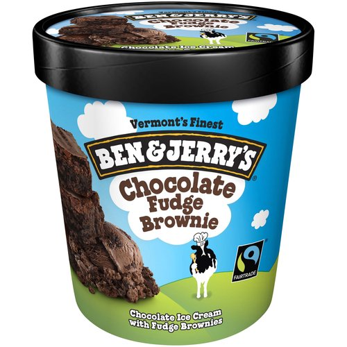 <ul> <li>Ben & Jerry's Chocolate Fudge Brownie Ice Cream</li> <li>Vermont's Finest</li> <li>The fabulously fudgy brownies in the flavor come from New York's Greyston Bakery, where producing great baked goods is part of their greater-good mission to provide jobs & training to low-income city residents.</li> </ul>
