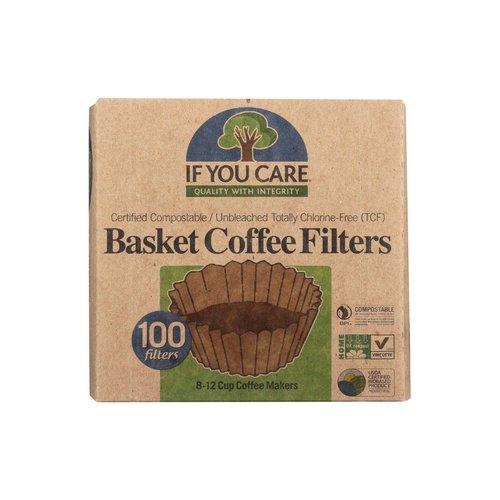 <ul> <li>Basket Filters for 8-12 Cup Drip Coffee Makers</li> <li>Certified Compostable</li> <li>Unbleached Totally Chlorine-Free (TCF)</li> </ul>