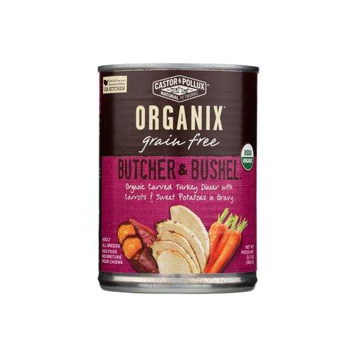 <ul> <li>Butcher & Bushel </li> <li>Adult</li> <li>Grain Free</li> <li>USDA Organic</li>  </ul>