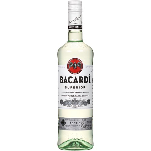<ul> <li>BACARDÍ Superior Rum is aged for a minimum of one year in charred American white oak barrels.</li> <li>BACARDÍ Superior Rum is shaped through a secret blend of charcoals, to craft a rum that has a light, dry taste perfect for mixing.</li> <li>BACARDÍ Superior Rum is perfect for creating classic, flavorful cocktails.</li> <li>BACARDÍ Superior Rum was used in the first Mojito cocktail, recorded in Pedro Chicote's book 'La Ley Mojada' from 1930.</li> <li>BACARDÍ Superior Rum is recognized in the world as the premium rum that inspired the cocktails that we know and love today such as the Original Mojito and Daiquiri.</li> <li>BACARDÍ-The world's most awarded rum.</li> </ul>