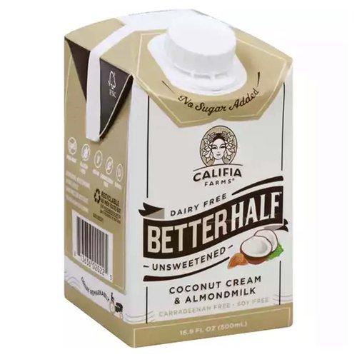 <ul> <li>Coconut Cream & Almondmilk</li> <li>Dairy Free</li> <li>No Sugar Added</li> </ul>
