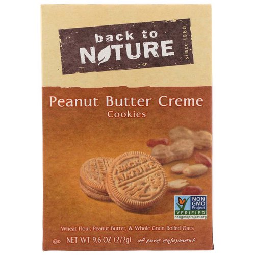 <ul> <li>Plant Based Snacks</li> <li>Simply Delicious, Simply Good</li> <li>Non GMO Verified</li> <li>Wheat Flour, Peanut Butter & Whole Grain Rolled Oats</li> </ul>
