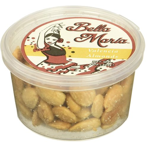 Bella Maria Fried Salted Valencia Almonds, 4 Ounce