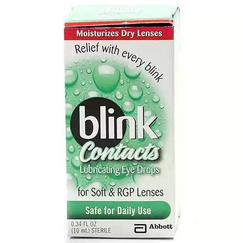 Blink Eye Drops, Lubricating for Soft & RGP Lenses, 10 Millilitre