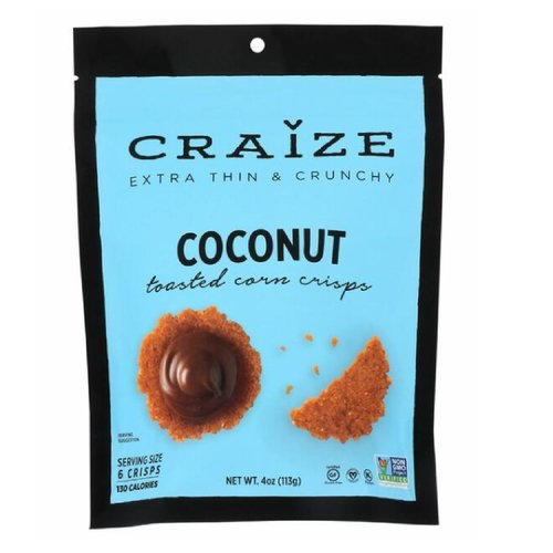 Craize Toasted Crisps Coconut, 4 Ounce
