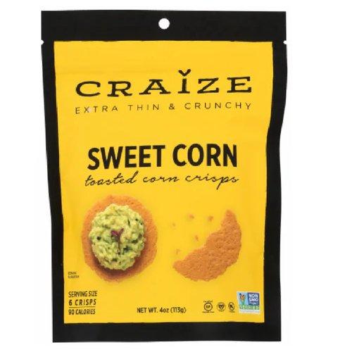 Craize Roasted Corn Crisps, Toasted, 4 Ounce