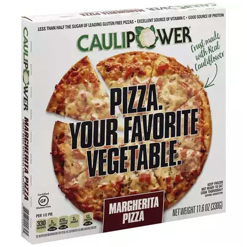 <ul> <li>Certified Gluten Free</li> <li>Less than 1/2 sugar of leading gluten free pizzas</li> <li>Excellent Source of Vitamin C</li> <li>Good Source of Protein</li> <li>Keep Frozen</li> <li>Not Ready to Eat, Cook Thoroughly</li> </ul>