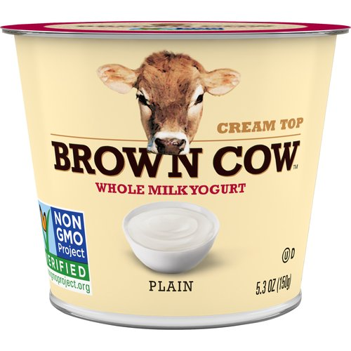 Brown Cow is the original cream top yogurt, delivering a sweet, creamy top layer that creates a richness to remember.  We only use whole milk and our yogurt is sweetened with cane sugar and maple syrup.  Each rich, creamy, and delicious flavor offers a perfect simple moment just for you!