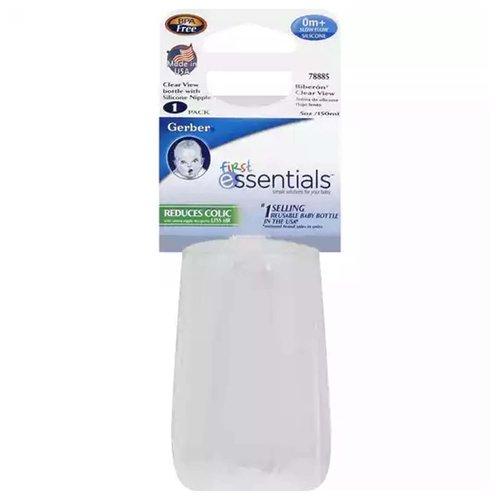 NUK Clear Bottle w/ Silicone Nipple, 1 Each