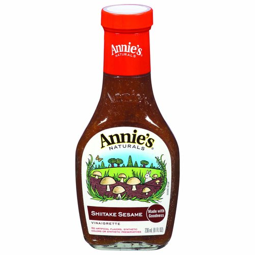 Made with goodness. No artificial flavors, synthetic colors or synthetic preservatives. Vegan. We source only ingredients stated to be free of genetically modified organisms. www.Annies.com. Made in USA.