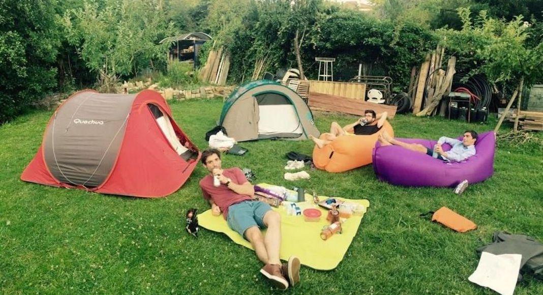 Camper dans son jardin