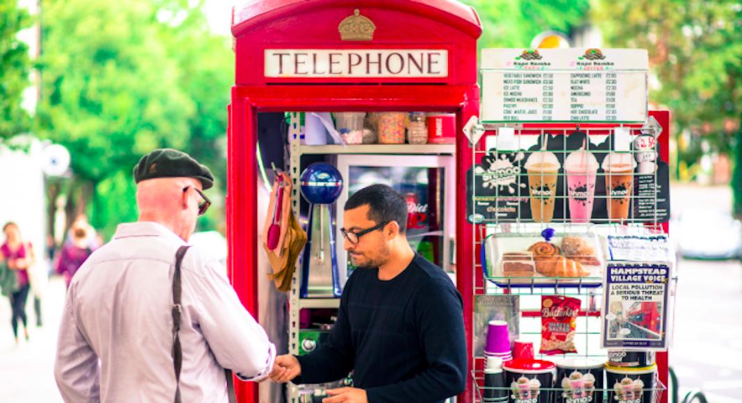 cabines téléphoniques coffee shop londres