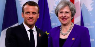 Emmanuel Macron Theresa May Brexit