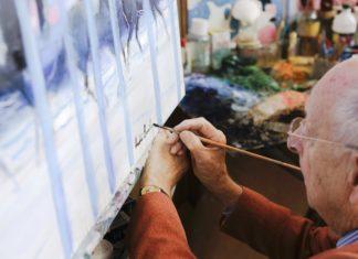 Andre Brasilier exposition Open Gallery London