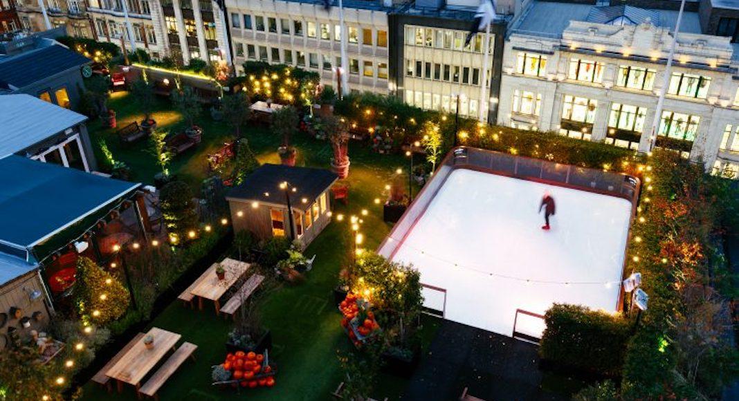 Skyline Skating, sur le toit de John Lewis
