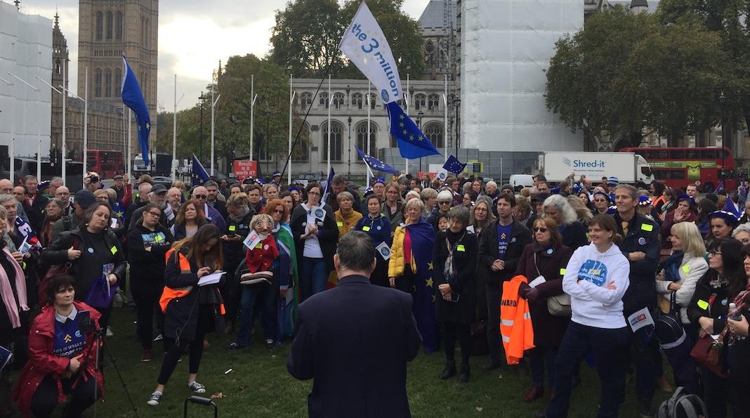 chaîne humaine Parlement Brexit The 3 Million