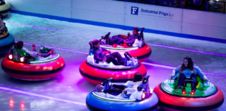 bumper cars on ice auto-tamponneuses londres