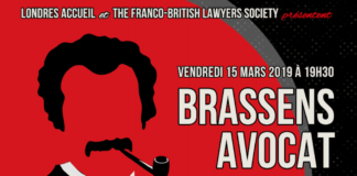 spectacle Brassens Avocat Londres