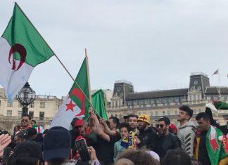 Manifestations algeriens Londres