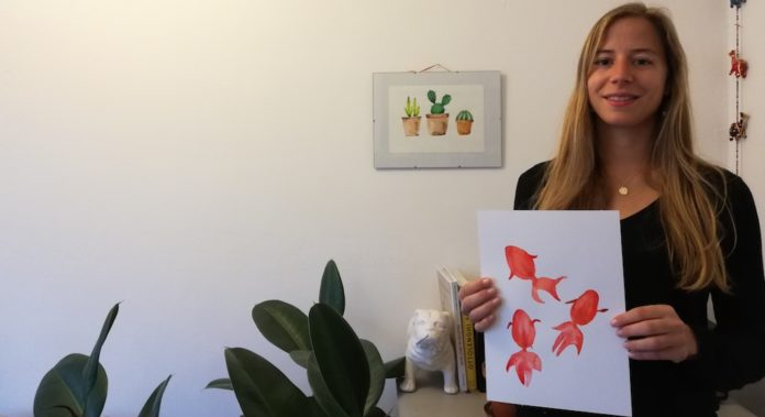 Claire Jolyot et ses aquarelles