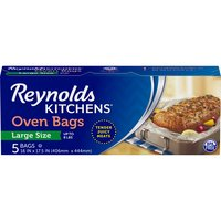 16 In x 17.5 in. For meats & poultry up to 8 lbs. Use in conventional or microwave ovens.