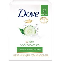 Dove go fresh Cucumber and Green Tea Beauty Bar combines the refreshing scent of cucumber and green tea with Dove's gentle cleansers and Â1/4 moisturizing cream.