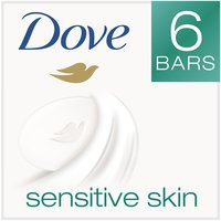 Dove Sensitive Skin Beauty Bar brings you classic Dove cleansers and Â1/4 moisturizing cream in an unscented, hypoallergenic bar that's gentle enough for sensitive skin. Dermatologically tested.