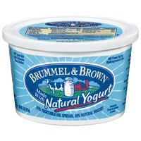 Deliciously creamy Brummel & Brown 15 oz Spread Made with Yogurt is blended with the goodness of natural yogurt.