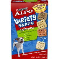 Purina Alpo Variety Snaps Dog Treats Little Bites w/Beef, Chicken, Liver & Lamb Flavors, 16 Ounce