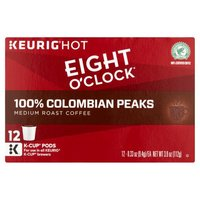 Eight O'Clock Coffee Colombian Peaks K-Cup Pods, 12 Each