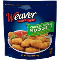 Weaver Fully Cooked Chicken Breast Nuggets, 24 Ounce