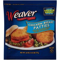 Weaver Breaded Chicken Breast Patties With Rib Meat, 26 Ounce