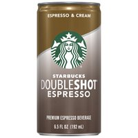 Starbucks Doubleshot Doubleshot Espresso & Cream Coffee Drink, 6.5 Fluid ounce