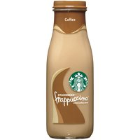A delicious treat for on the go. Coffee Frappuccino chilled coffee drink is a harmonious blend of Starbucks coffee and creamy milk with a hint of sweetness.