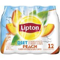 Lipton Iced Tea - Diet Peach, 202.8 Fluid ounce