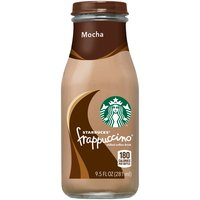 4 pack. 9.5 fl oz each glass bottle. Creamy blend of the finest Arabica coffee and milk, swirled together with our indulgent and chocolately mocha.