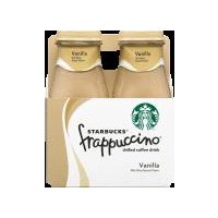 A delicious treat for on the go. Vanilla Frappuccino chilled coffee drink is a harmonious blend of Starbucks coffee and creamy milk with a tasty hint of vanilla.