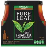 Pure Leaf Unsweetened Tea - 6 Pack Plastic Bottles, 101.4 Fluid ounce