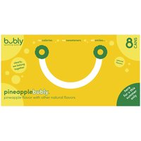 Bubly Bubly Pineapple Sparkling Water - 8 Pack Cans, 96 Fluid ounce