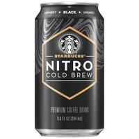 Starbucks Nitro Unsweetened Black Coffee Drink, 9.6 Fluid ounce