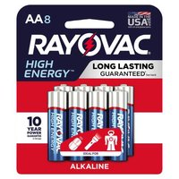 Rayovac Alkaline Batteries - AA, 8 Each