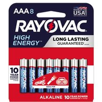 Rayovac Alkaline Batteries - AAA, 8 Each
