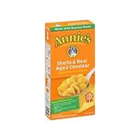Annie's Homegrown Shells & Real Aged Cheddar Macaroni & Cheese, 6 Ounce