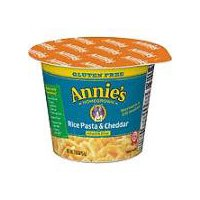 Annie's Homegrown Rice Pasta and Cheddar Micro Cup Mac and Cheese, 2.01 Ounce
